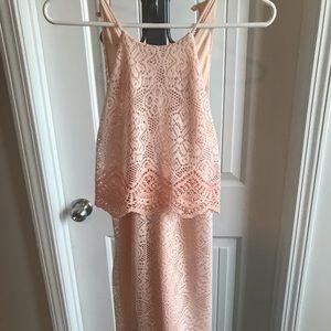 Beautiful peach lace dress